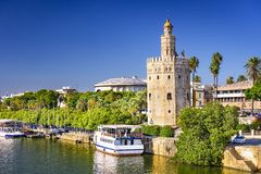 Torre del Oro Tower of Seville Stock Photos
