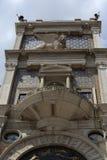 Torre delĺ Orologio, gamla byggnader, Venedig, Venezia, Italien Royaltyfri Fotografi