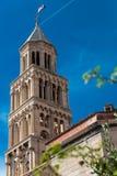 Torre del palacio de Diocletian en fractura Foto de archivo