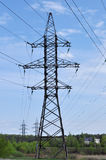 Torre del pilón de la electricidad Imagen de archivo