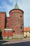 Torre del polvo en Riga Imagenes de archivo