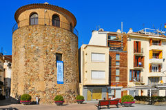 Torre del Port in Cambrils, Spain Royalty Free Stock Photos