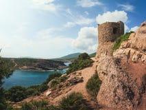 Torre del Porticciolo,撒丁岛,意大利 库存照片
