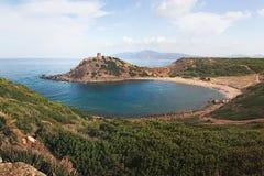 Torre del Porticciolo,撒丁岛,意大利 库存图片