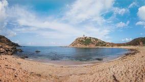 Torre del Porticciolo,撒丁岛,意大利 图库摄影