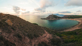 Torre del Porticciolo dichtbij Alghero, Sardinige, Italië Stock Foto's