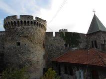 Torre del portone di Zindan e chiesa della nascita della Vergine Santa Fotografia Stock