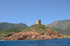 Torre del pueblo de Girolatta Foto de archivo