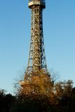Torre del puesto de observación de Praga Imágenes de archivo libres de regalías