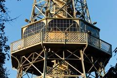Torre del puesto de observación de Praga Foto de archivo libre de regalías