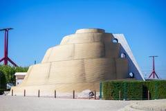 Torre del puesto de observación de Ziggurat - de Babel Imagen de archivo