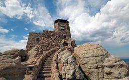 Torre del puesto de observación del fuego del pico de Harney en Custer State Park en el Black Hills de Dakota del Sur Fotografía de archivo