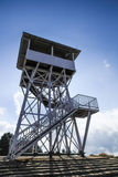 Torre del punto di vista a Poonhill 3.210 m. torre, Nepal Immagini Stock