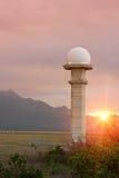 Torre del radar Fotos de archivo libres de regalías