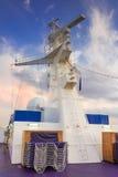 Torre del radar de la nave Fotos de archivo libres de regalías