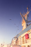 Torre del radar della nave Fotografie Stock Libere da Diritti