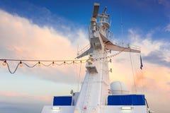Torre del radar della nave Fotografia Stock