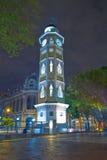 Torre del reloj瓜亚基尔,厄瓜多尔Malecon 2000年 库存照片