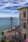 Torre del reloj de Alcatraz Foto de archivo libre de regalías