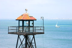 Torre del reloj de Alcatraz Fotos de archivo
