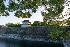 Torre del reloj del castillo de Osaka Fotografía de archivo libre de regalías