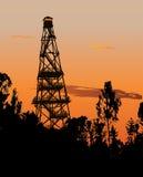 Torre del reloj del incendio forestal Foto de archivo