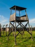 Torre del reloj en Birkenau Imagen de archivo libre de regalías