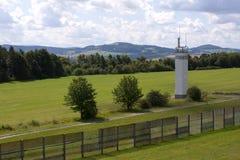 Torre del reloj en la alfa de la punta Imagen de archivo
