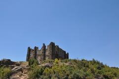 Torre del reloj a la acrópolis imagenes de archivo