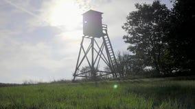 Torre del reloj del pájaro almacen de video