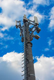 Torre del ripetitore di comunicazione fotografia stock libera da diritti