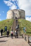 Torre del ` s de Clifford, York Foto de archivo
