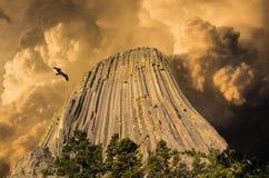 Torre del ` s del diablo, Wyoming, U S A Fotografía de archivo