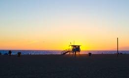 Torre del salvavidas de Santa Monica Foto de archivo