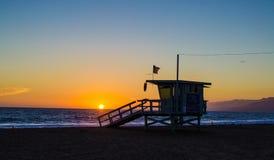 Torre del salvavidas de Santa Monica Fotografía de archivo libre de regalías