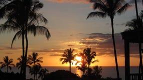 Torre del salvavidas en la puesta del sol fotografía de archivo libre de regalías