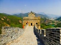 Torre del segnale della grande muraglia di Huanghuacheng Fotografia Stock