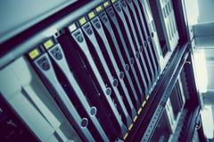 Torre del server montata scaffale nero Immagine Stock Libera da Diritti