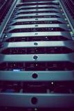 Torre del server montata scaffale nero Fotografia Stock Libera da Diritti