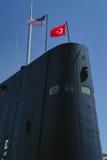 Torre del sottomarino del diesel del Razorback di USS Immagine Stock