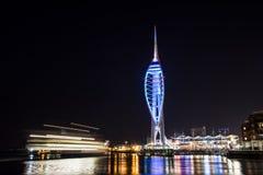 Torre del spinnaker de Portsmouth Imágenes de archivo libres de regalías