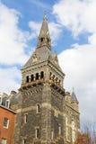 Torre del sud dell'edificio storico di Healy Hall del georgetown university in Washington DC Immagine Stock Libera da Diritti