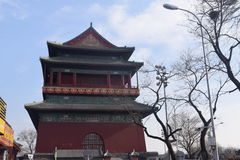 Torre del tambor en China Imagen de archivo libre de regalías