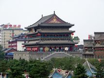 Torre del tambor, Xian China foto de archivo