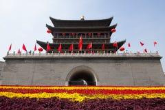 Torre del tamburo di Xi'an all'autunno Fotografie Stock