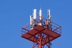 Torre del teléfono celular Fotografía de archivo libre de regalías