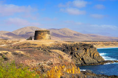 Torre del Toston castle in El Cotillo Stock Images