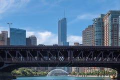 Torre del triunfo en Chicago Imágenes de archivo libres de regalías