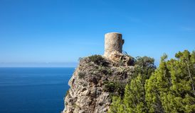 Torre del Verger. In Banyalbufar, Majorca Balearic Islands, Spain stock images