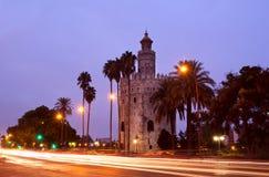 Torre Del w Sevilla Oro, Hiszpania Obraz Royalty Free